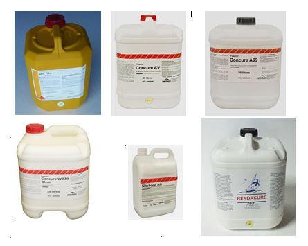 Curing compounds, evaporation retardants