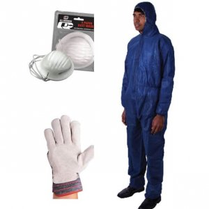 Gloves, masks, disposable overalls, gloves